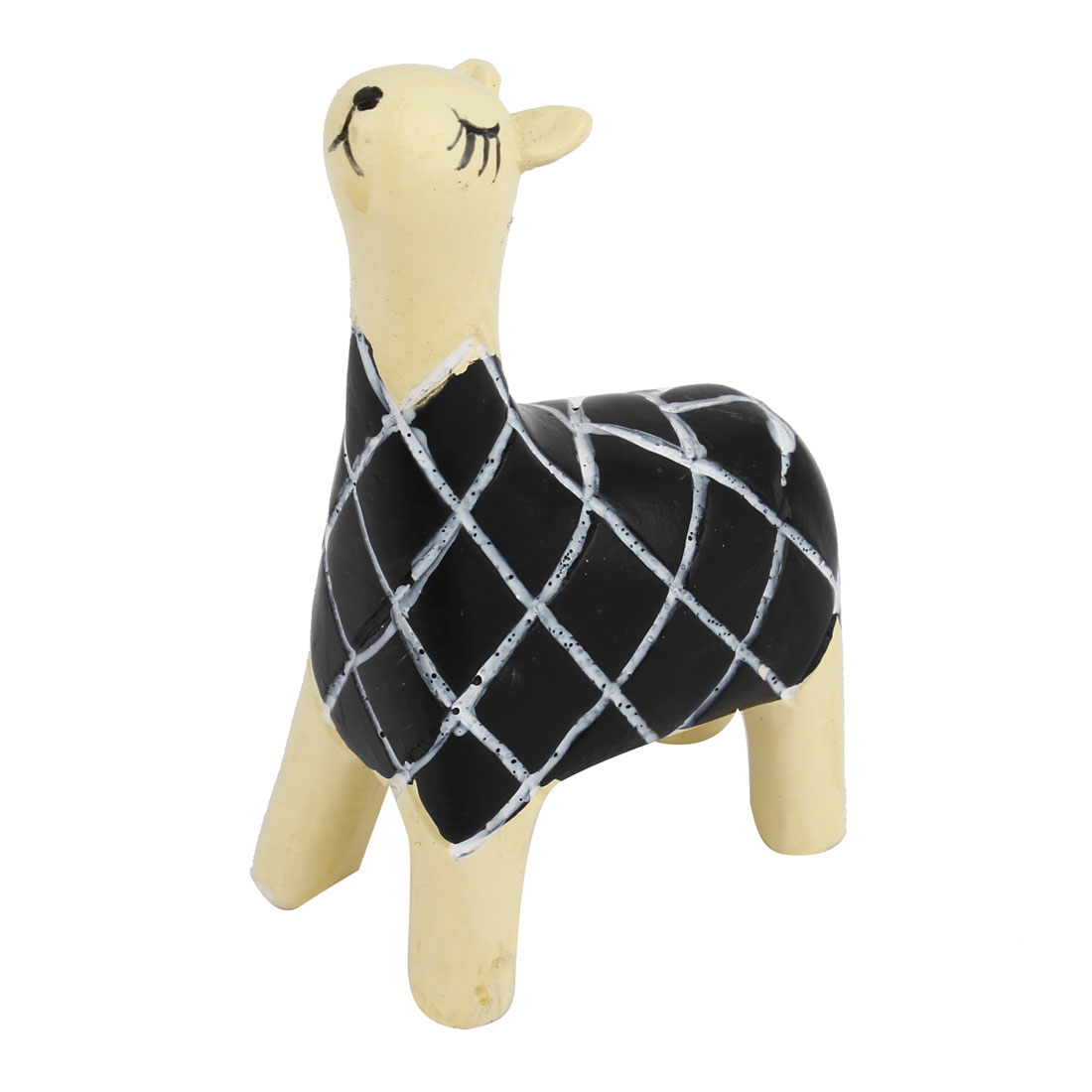 Tabletop Adorn Handmade Craft Grass Mud Horse Shape Decor Black Beige