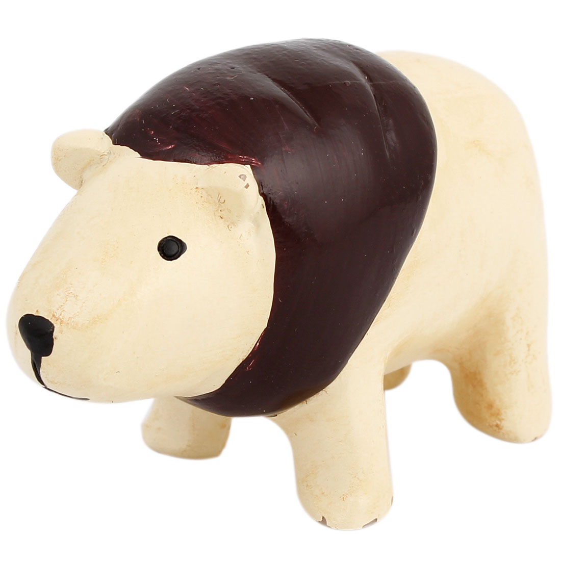 Tabletop Adorn Handmade Craft Bear Shape Decor Brown Beige