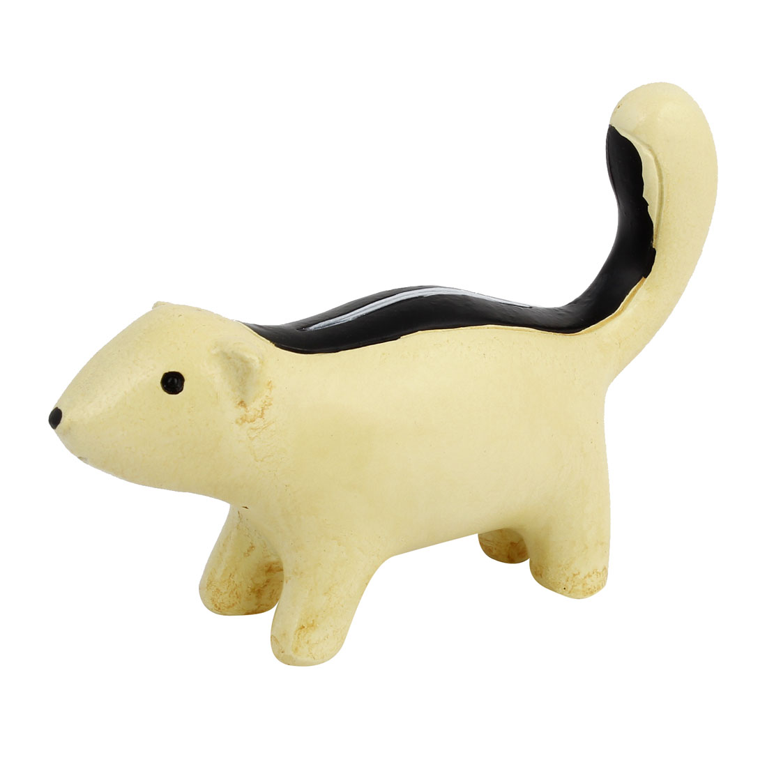 Tabletop Adorn Handmade Craft Squirrel Shape Decoration Black Beige