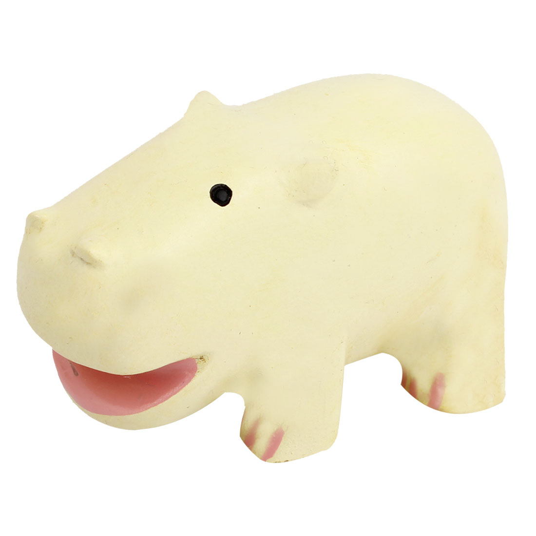 Tabletop Adorn Simulation Hippo Shape Ornament Beige