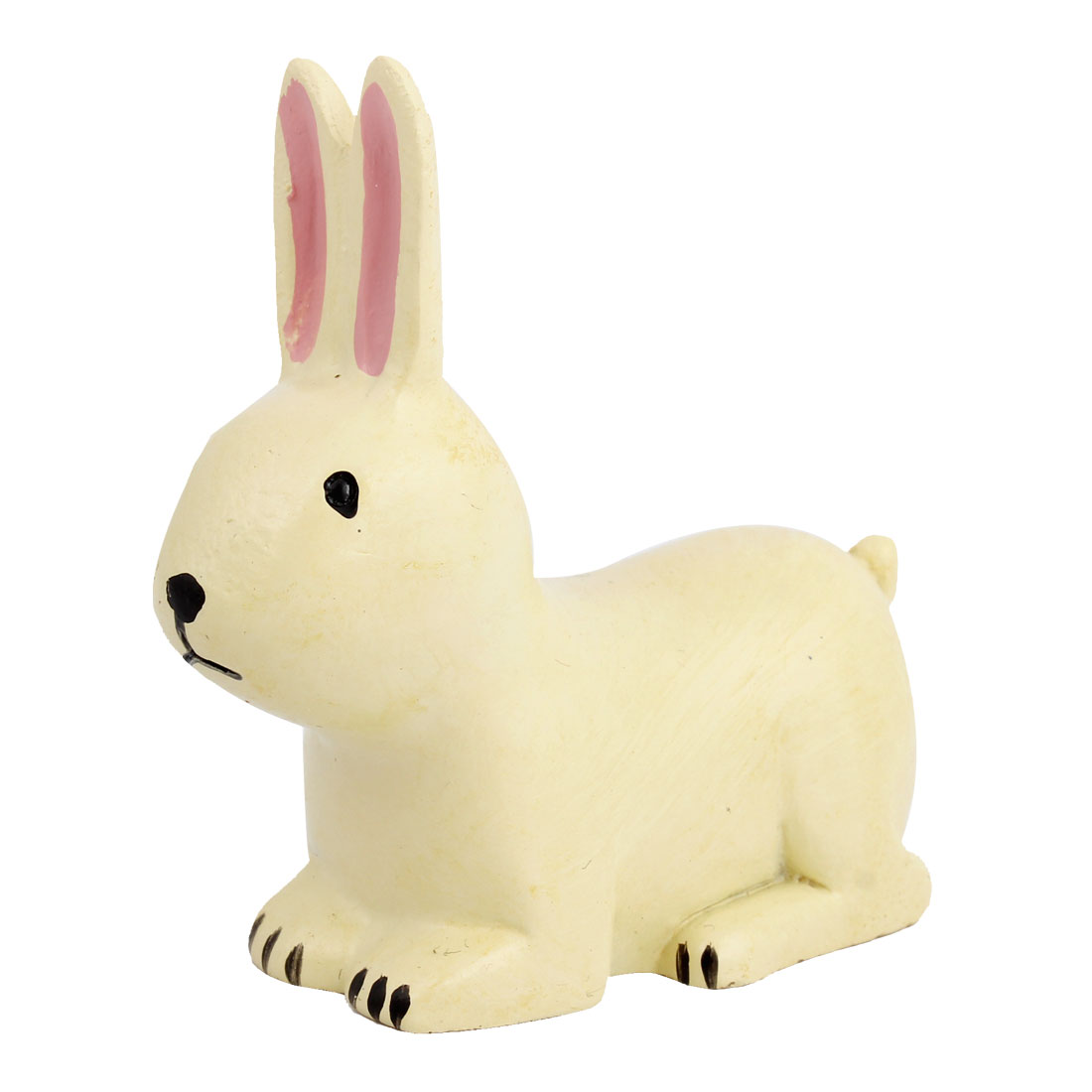 Tabletop Adorn Handmade Craft Rabbit Shape Decoration Off White