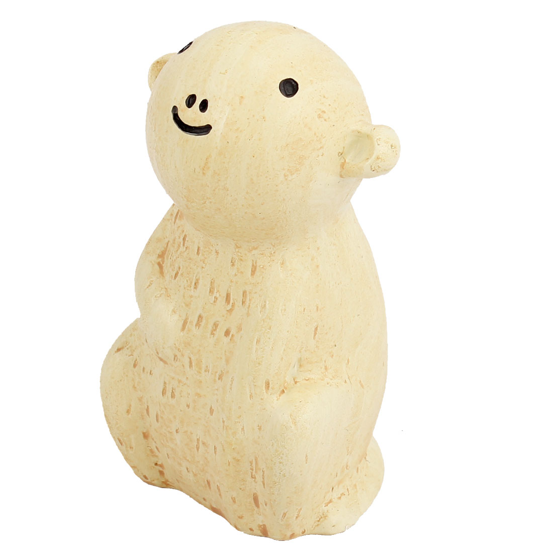 Tabletop Adorn Handmade Craft Monkey Shape Decoration Off White