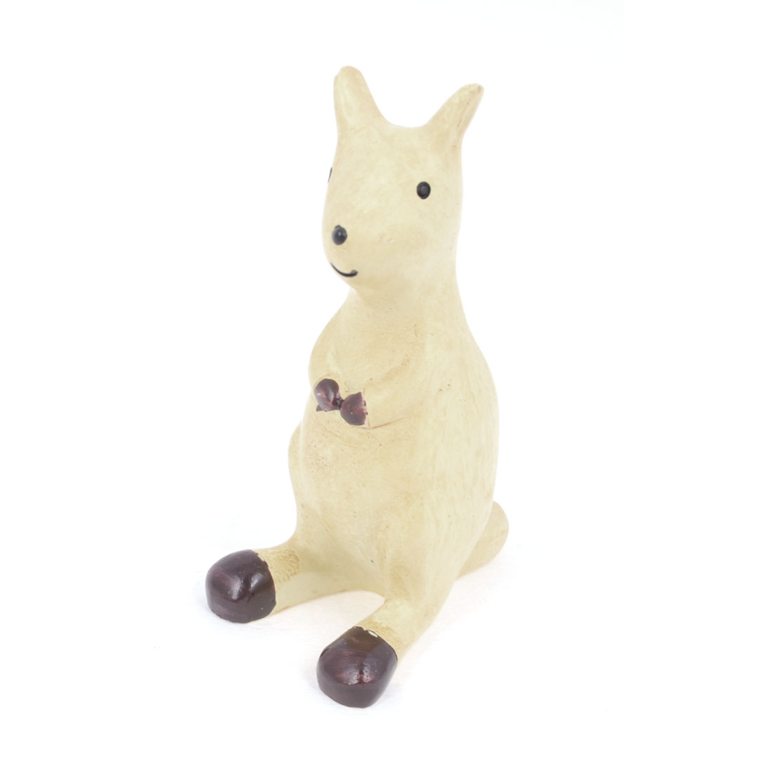 Office Desktop Beige Resin Handicraft Emulational Animal Kangaroo Ornament