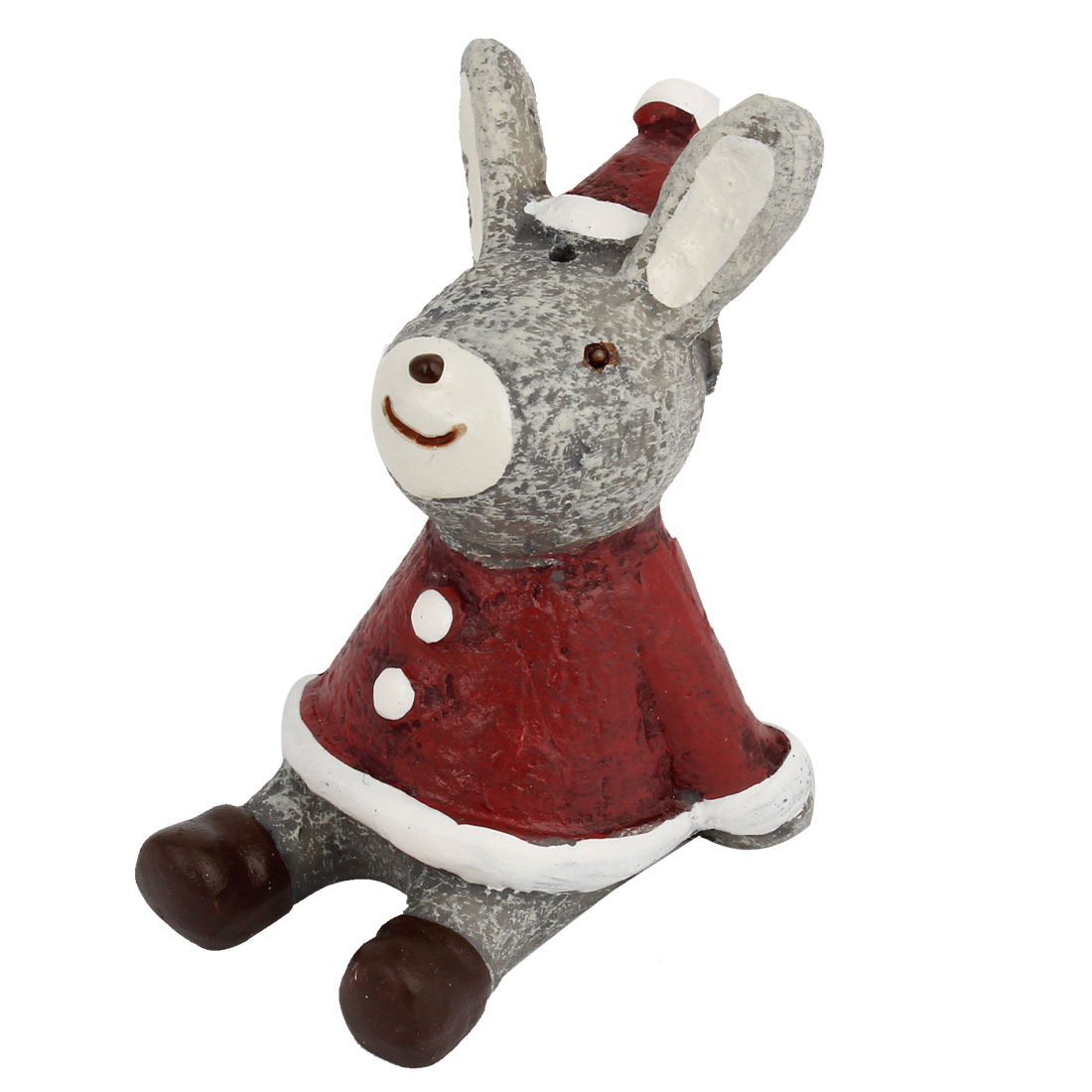 Tabletop Adorn Simulation Rabbit Shape Ornament Burgundy
