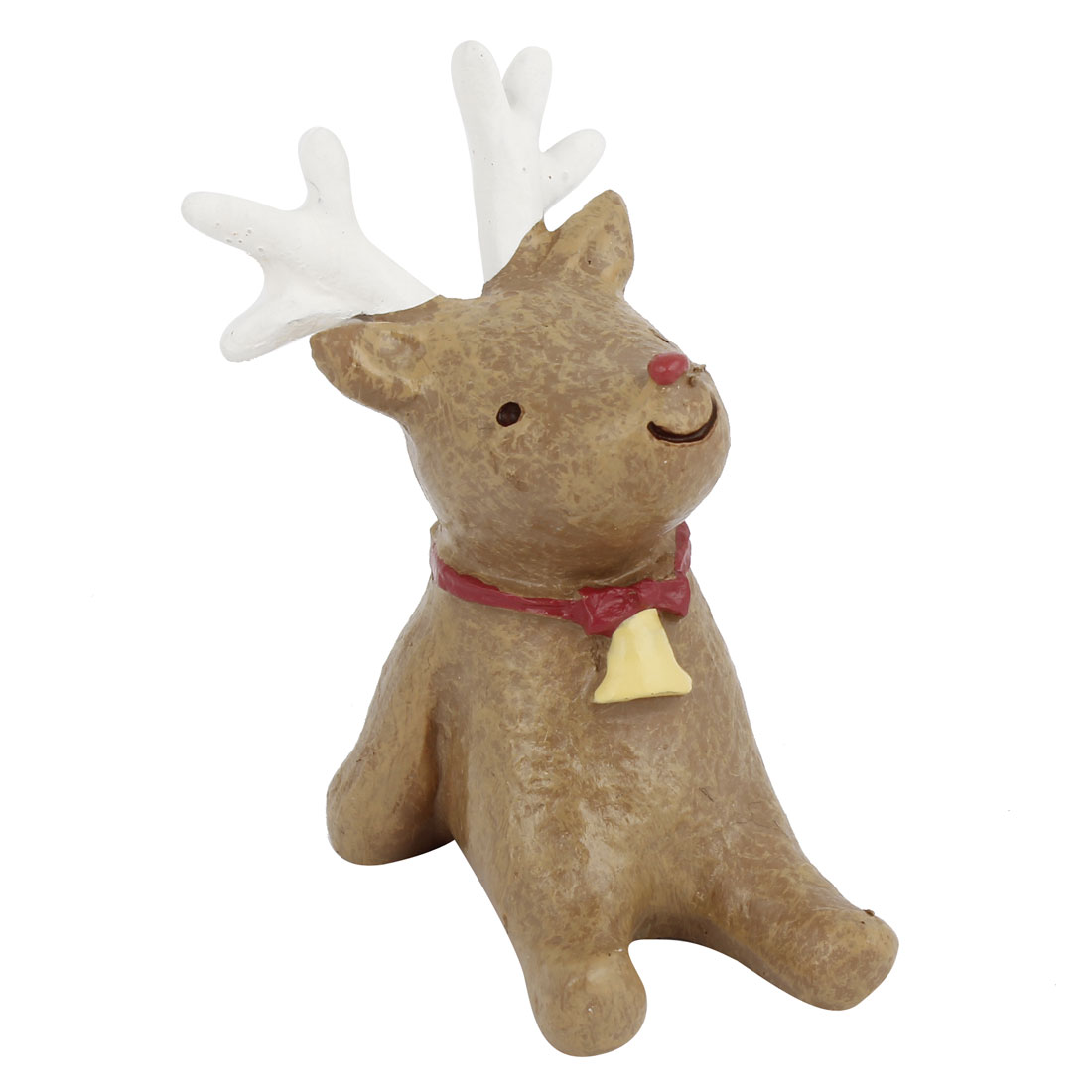 Tabletop Adorn Handmade Craft Deer Shape Decoration Coffee Color