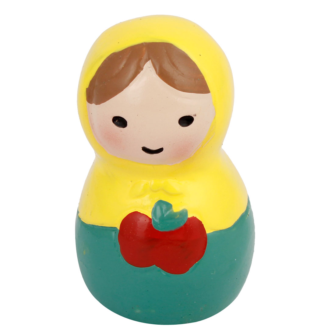 Cyan Yellow Resin Handmade Craft Russian Doll Decoration