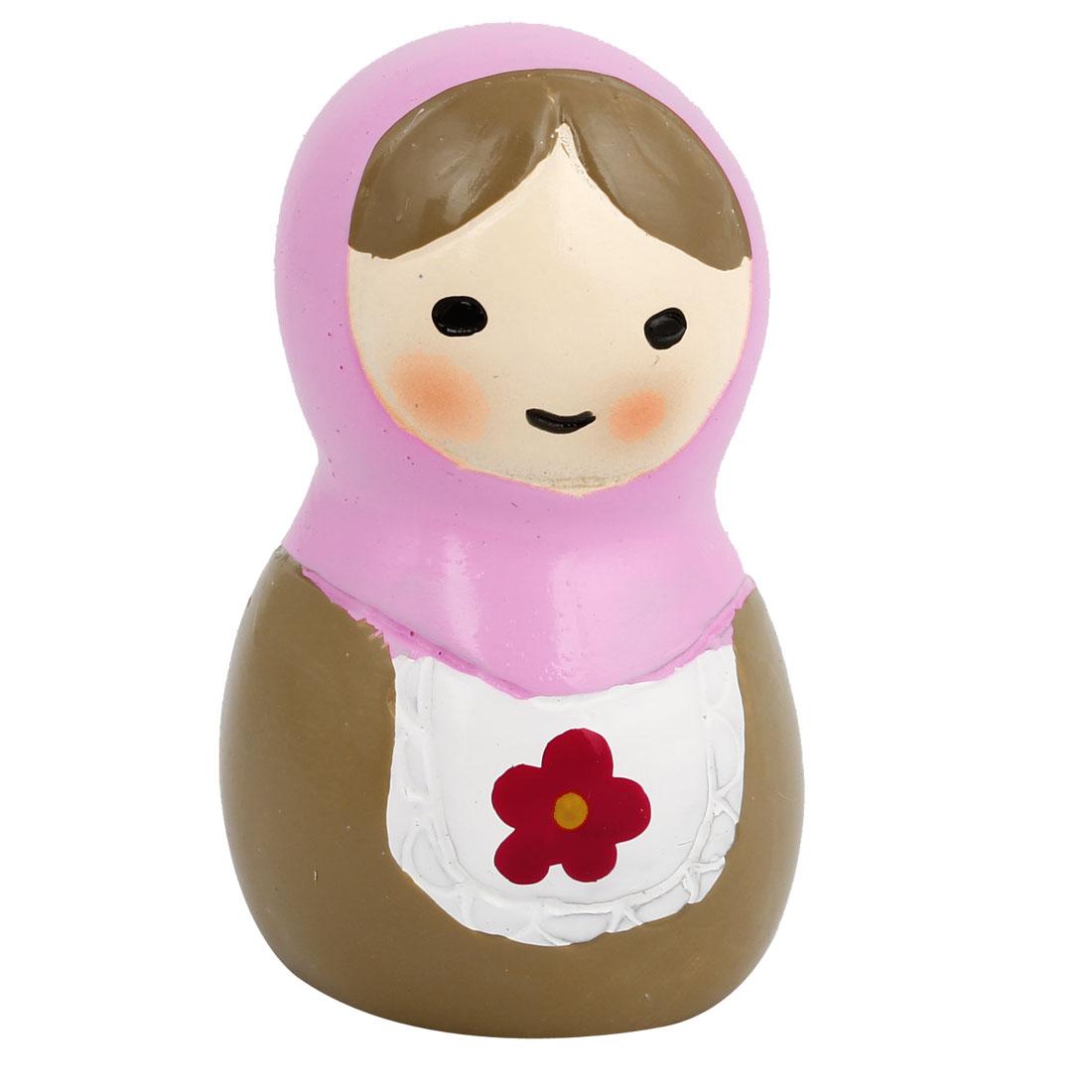 Tabletop Adorn Russian Doll Shape Decor Purple Brown