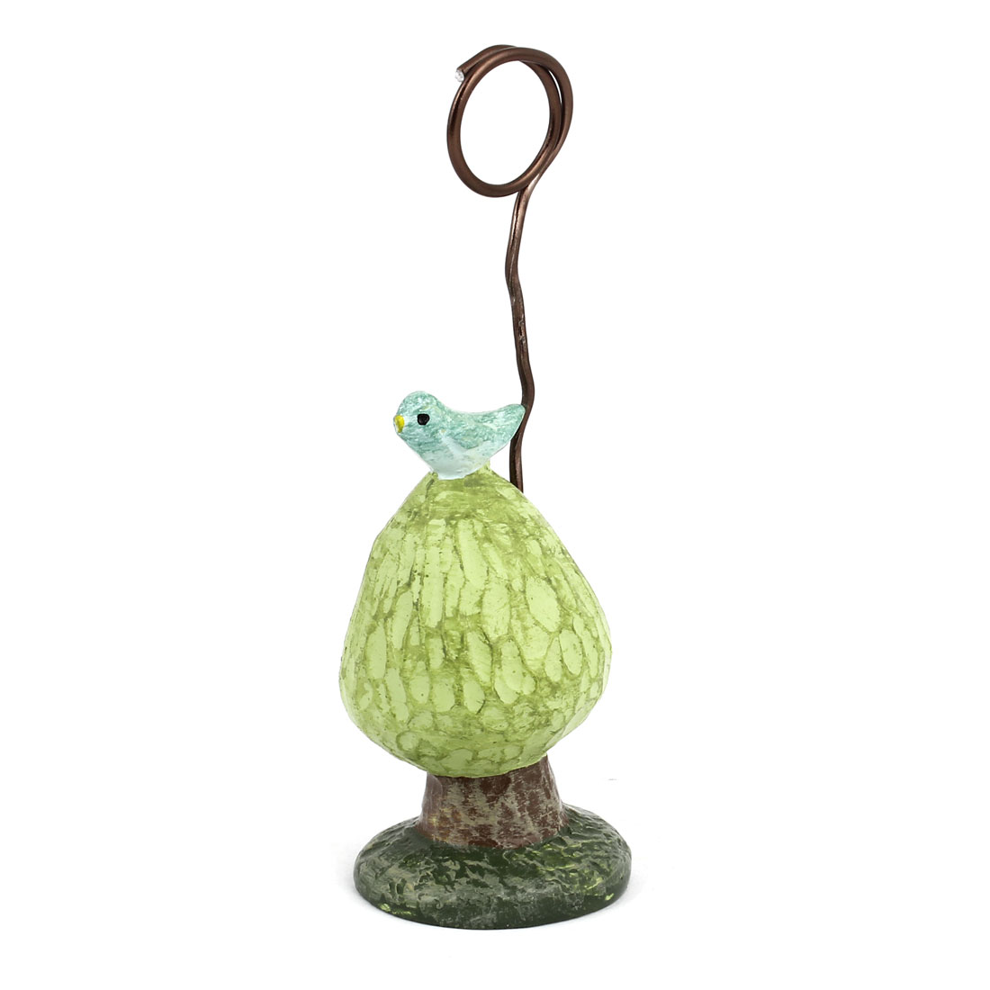 Bird Decor Tree Shaped Card Holder Memo Photo Display Clip Clamp Green