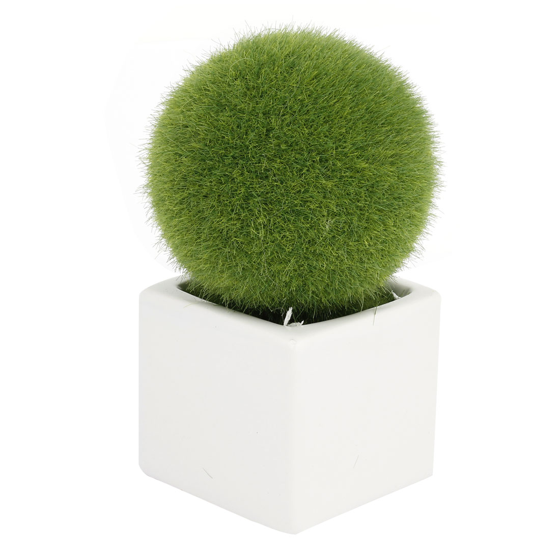 Home Office Table Ornamental Plant Plastic Grass Ball Pot