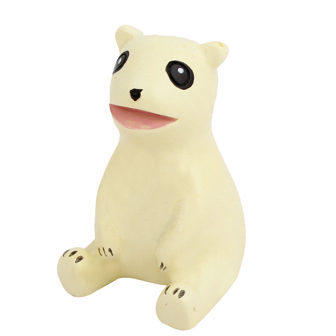 Tabletop Adorn Simulation Bear Shape Ornament Beige
