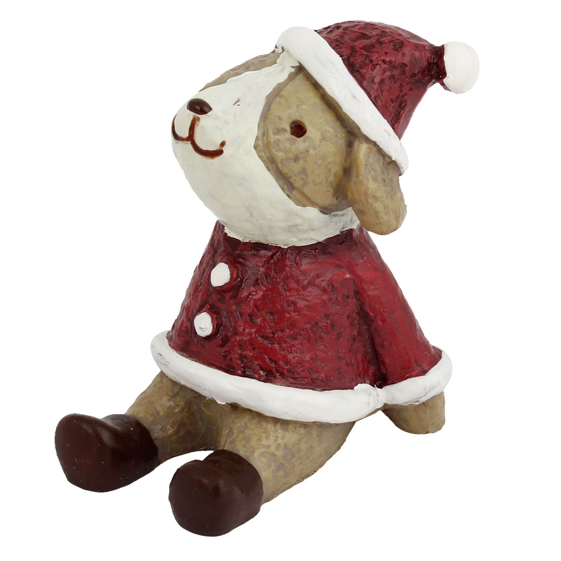 Clothing Hat Wearing Dog Shape Ornament Burgundy
