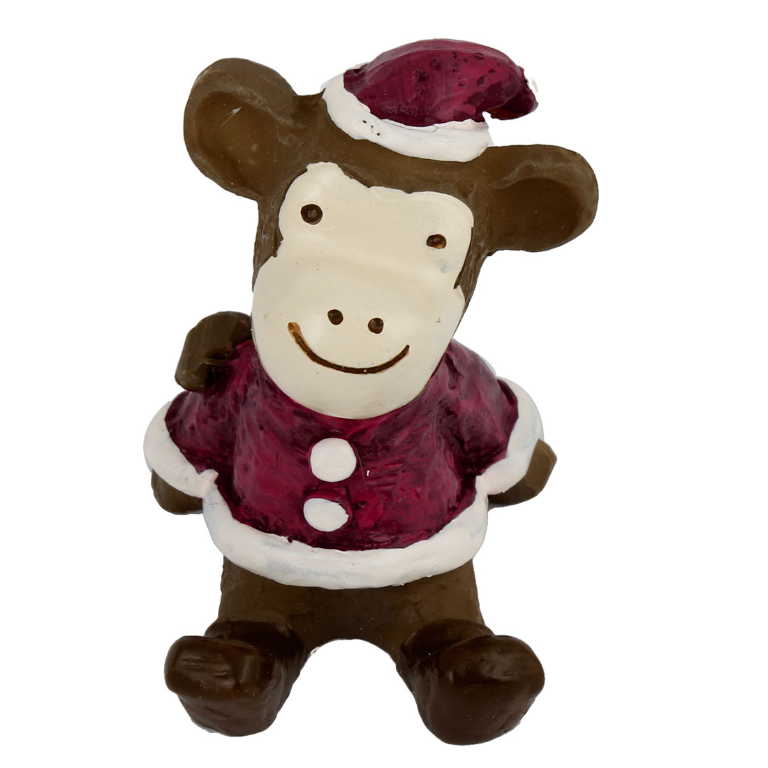 Christmas Adornment Dressing Up Monkey Ornament Crafts Burgundy