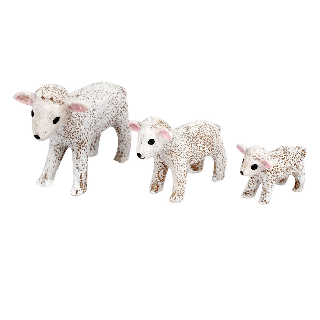 3 in 1 Tabletop Adorn Craft Sheep Decoration White