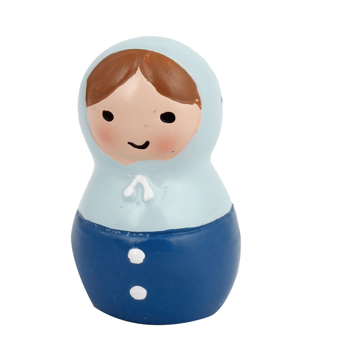 Tabletop Adorn Artifact Russian Doll Shape Ornament Blue