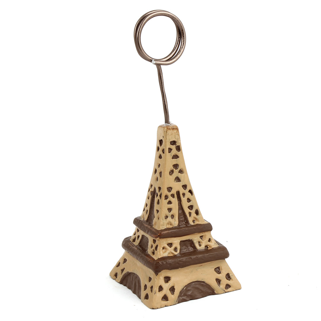 Chocolate Color Eiffel Tower Decoration Photo Memo Clip Stand Card Display Holder