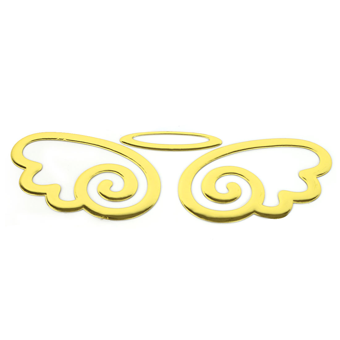 Gold Tone Plastic Flying Angel Wings Car Badge Emblem Sticker