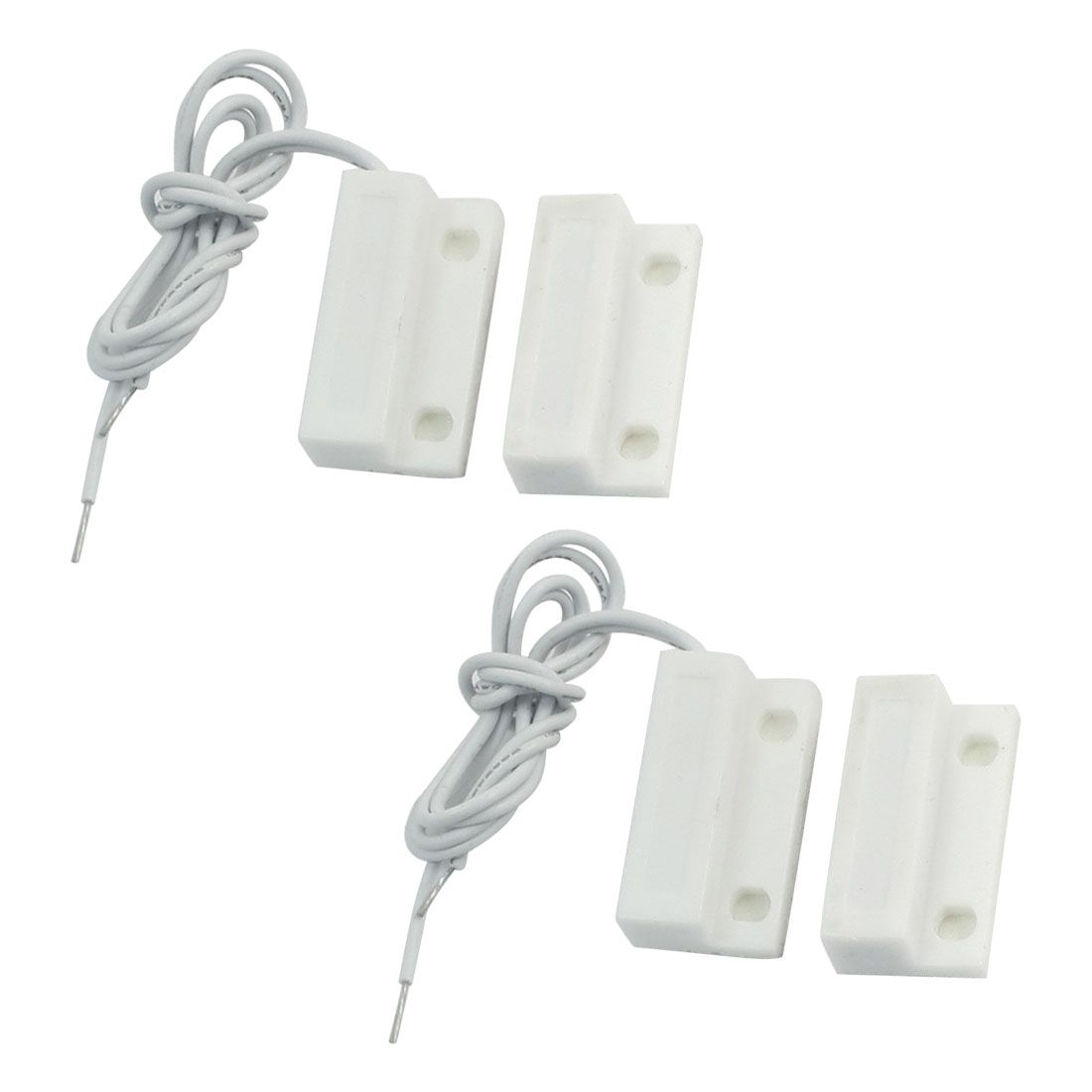 2 Pcs Normally Open Door Window Magnetic Contact Reed Switch Alarm Security