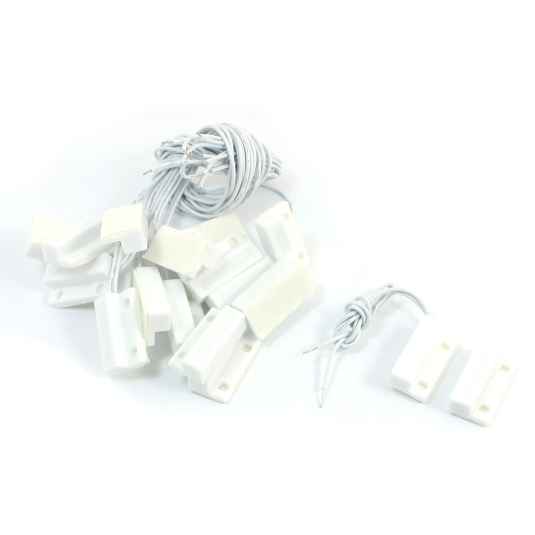10pair MC-38 White ABS Housing NC Door Window Reed Switch Magnetic Contact