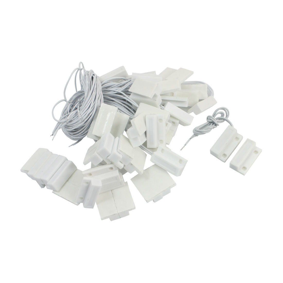 30Pairs NO Door Window Contact Magnetic Reed Switch Security Alarm Adhesived