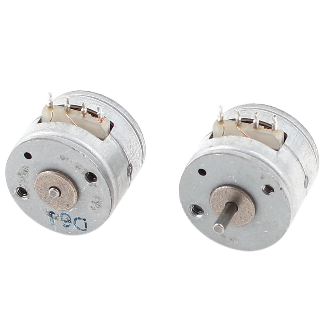 2Pcs 1000RPM Two Phase Four Wire 15mm Metal Stepper Motor Silver Tone