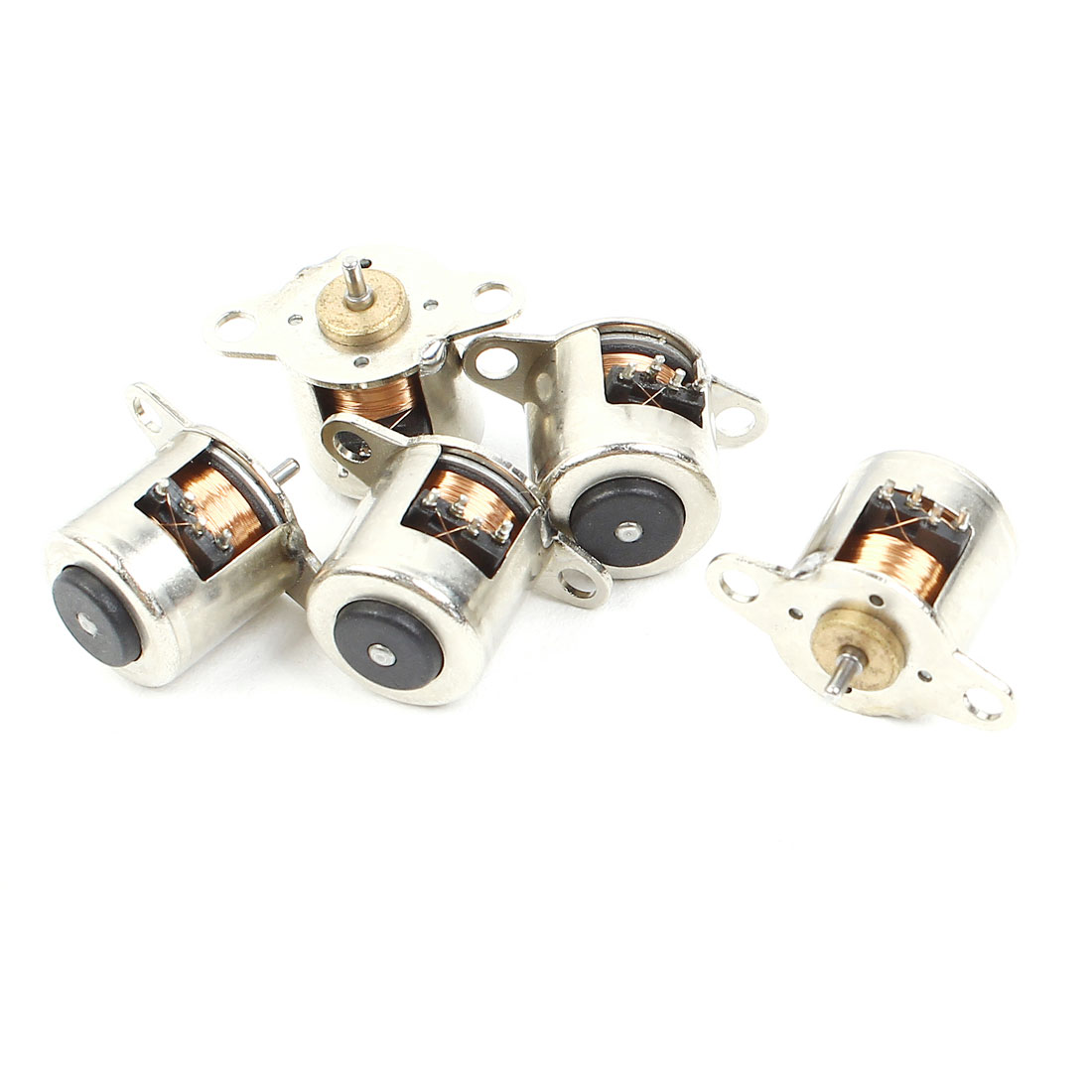 5pcs 3mm x 1mm Shaft Silver Tone Metal Stepper Motor 1000RPM