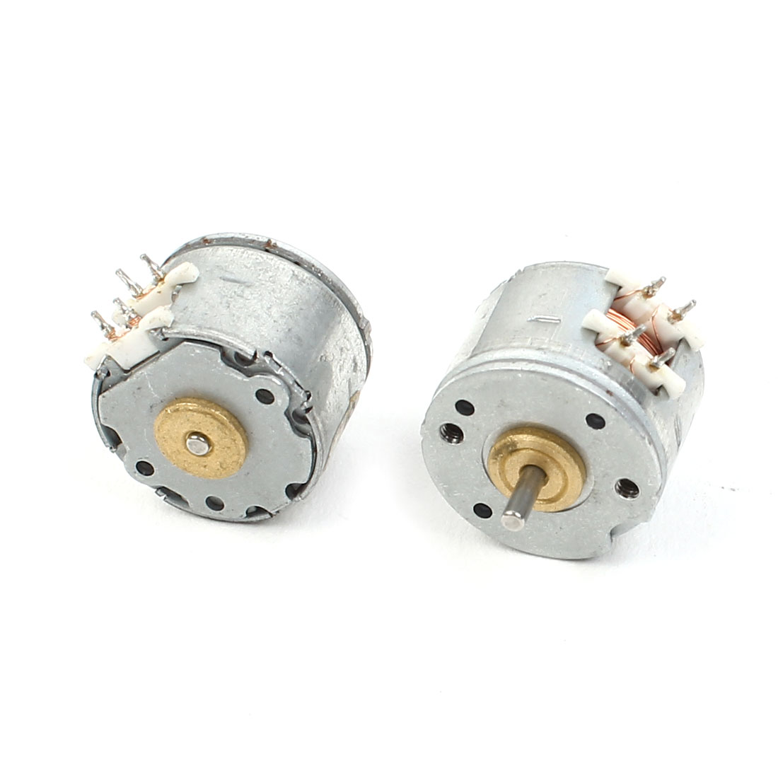 2pcs DC5V 5mm Shaft Length 15mm Dia Two Phase Four Wire Stepper Motor