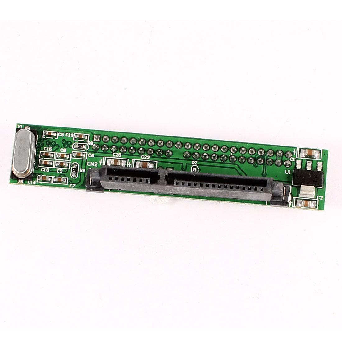 "Serial ATA SATA 7+15Pin Female to 44Pin 2.5"" IDE Male HDD Adapter Converter Card"