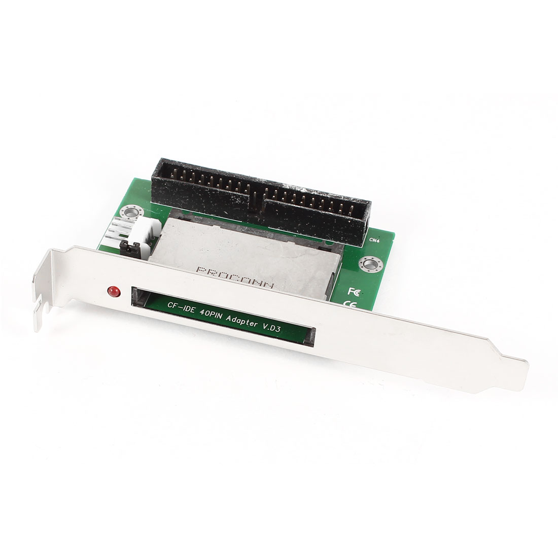 "Compact Flash CF to 3.5"" IDE 40Pin Male Converter Adapter Card w PCI Bracket for PC Computer"