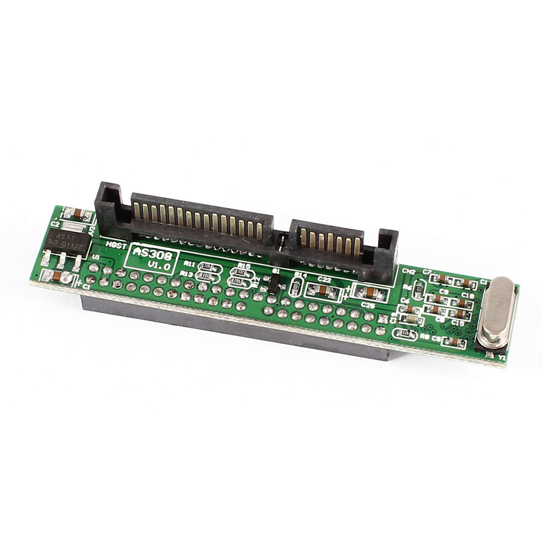 "Serial ATA SATA 7+15Pin Male to 44Pin 2.5"" IDE Female HDD Adapter Converter Card"