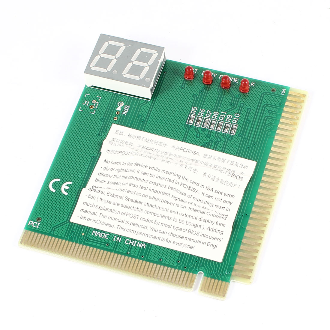 PC Computer 2 Digit PCI ISA Motherboard Mainboard Test Analyzer Diagnostic Debug POST Card