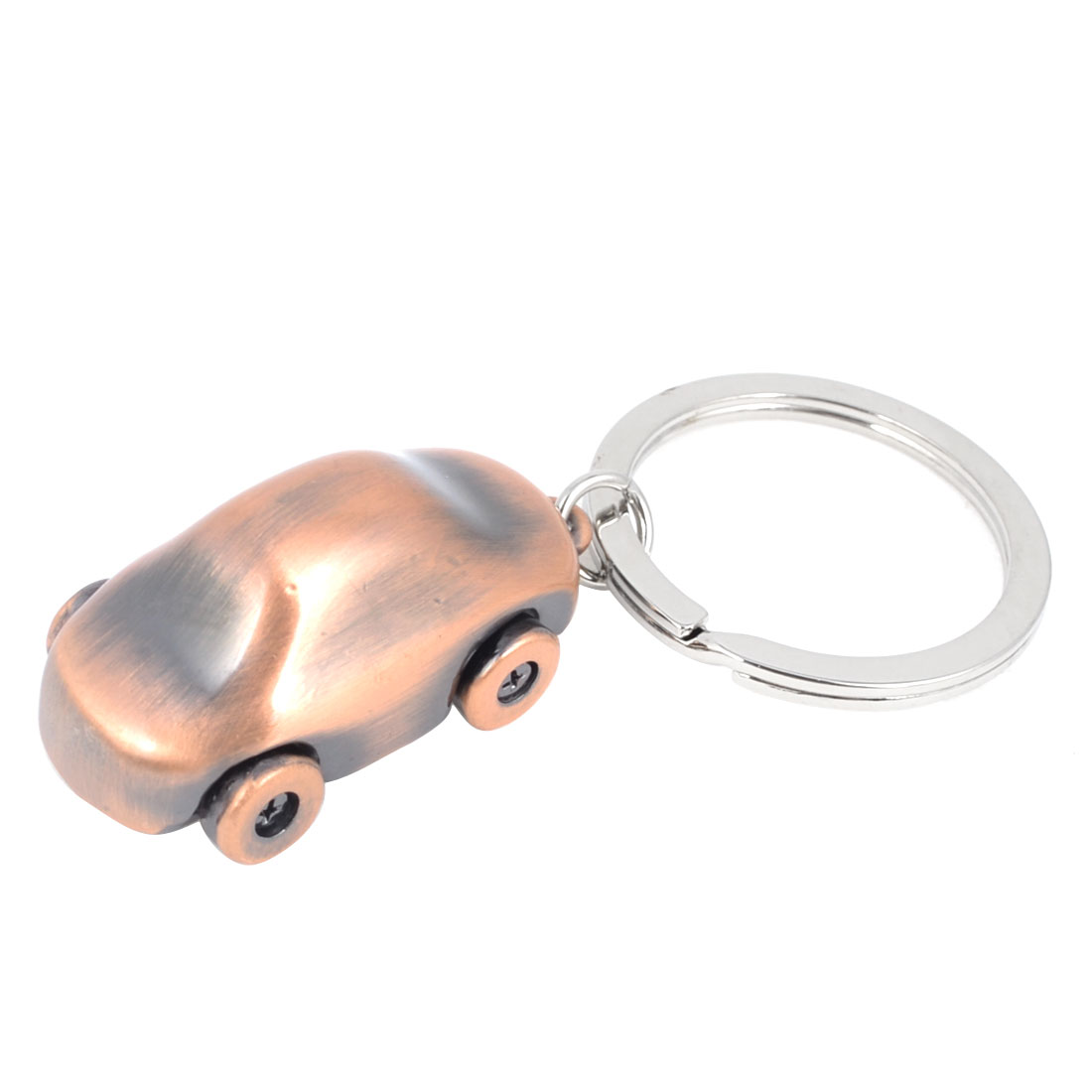 Copper Tone Car Shaped Pendant Keychain Keyring Hanging Ornament
