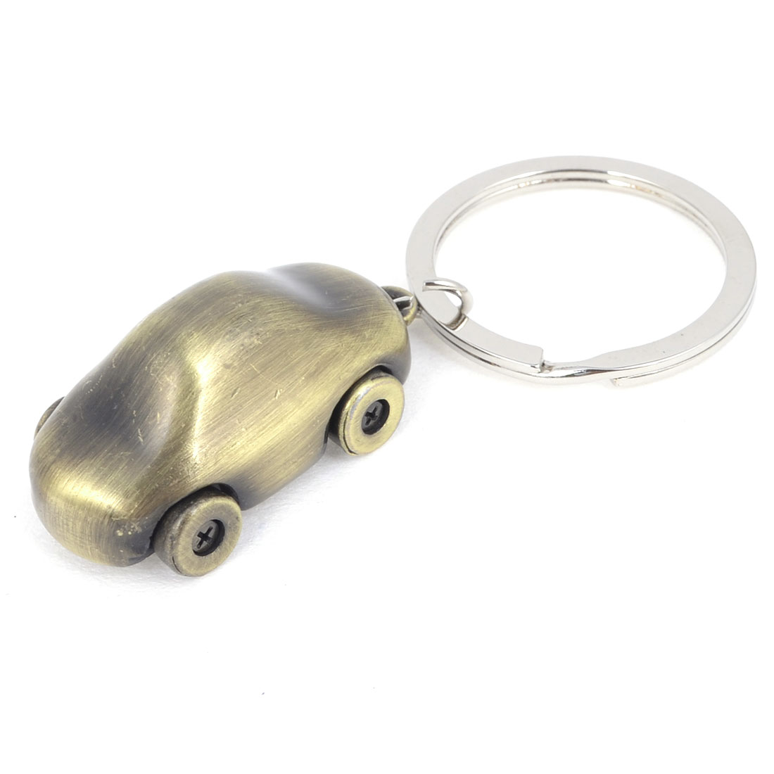 Bronze Tone Car Design Pendant Keychain Key Ring Silver Tone