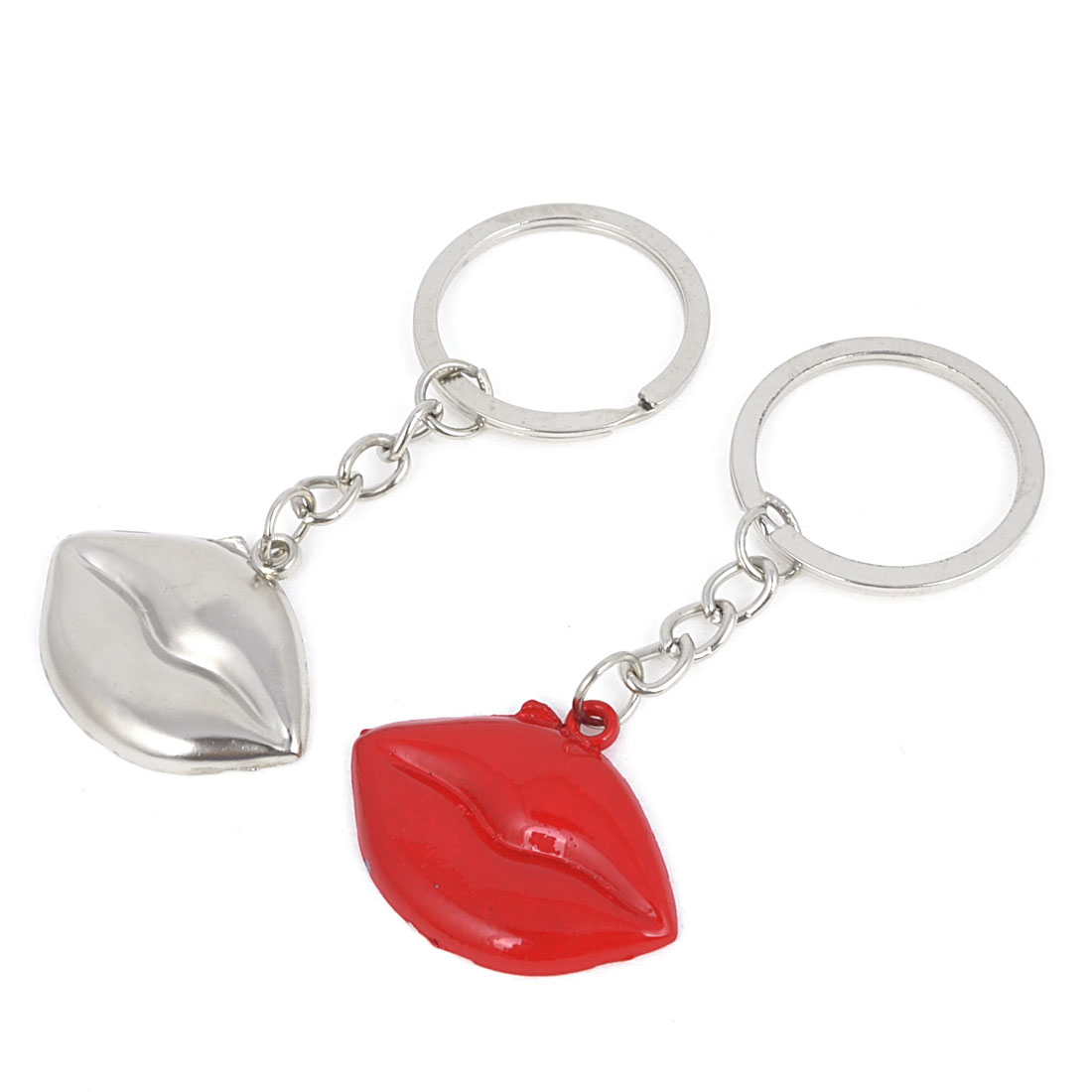 Pair Lip Style Pendant Keychain Keyring Hanging Ornament for Couple
