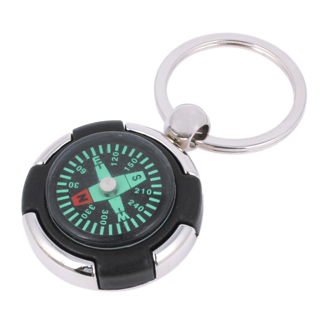 Compass Design Dangle Pendant Keychain Key Ring Ornament