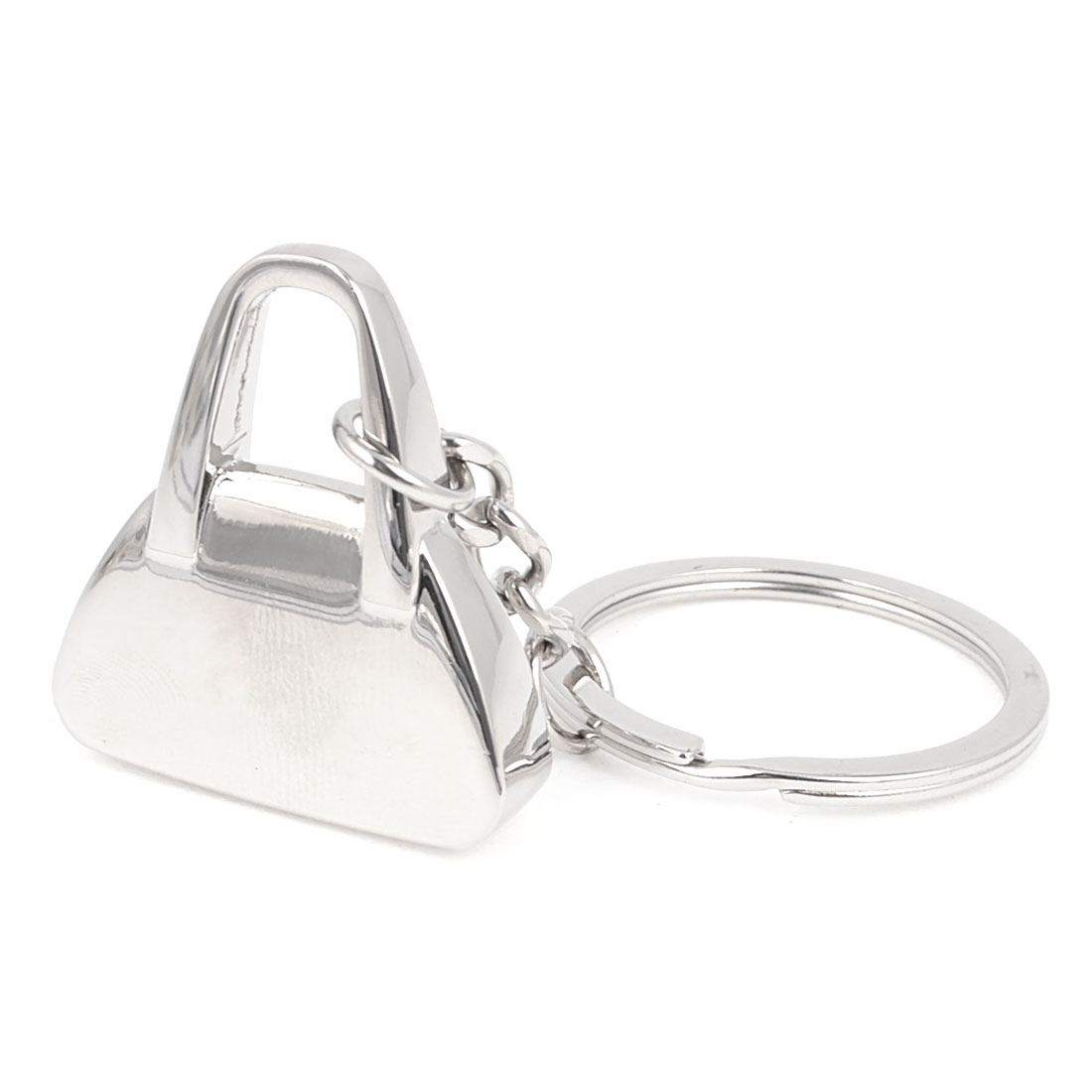 Handbag Shaped Decoration Dangle Pendant Keychain Silver Tone