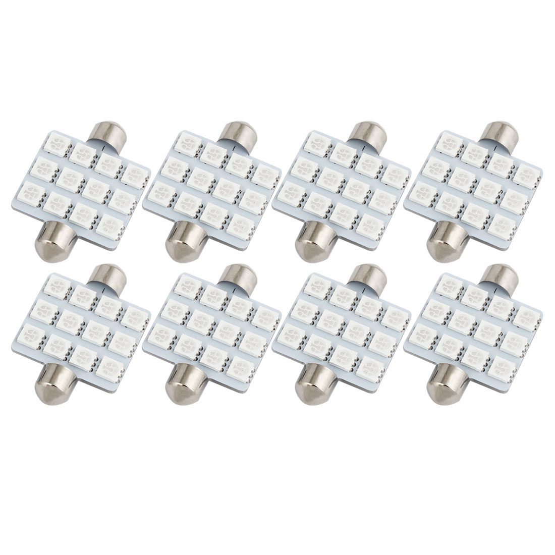 8 PCS 41mm 12-LED 5050 Blue SMD Festoon Map Light Lamp 212-2 12844 Internal
