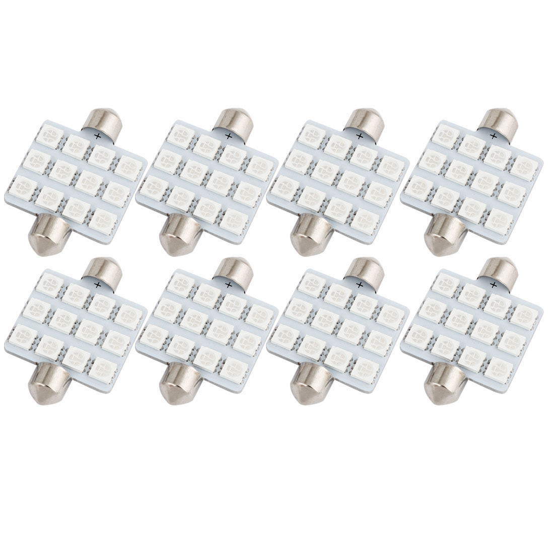 8PCS 41mm 12-LED 5050 Green SMD Festoon Map Light Lamp 212-2 12844 Internal