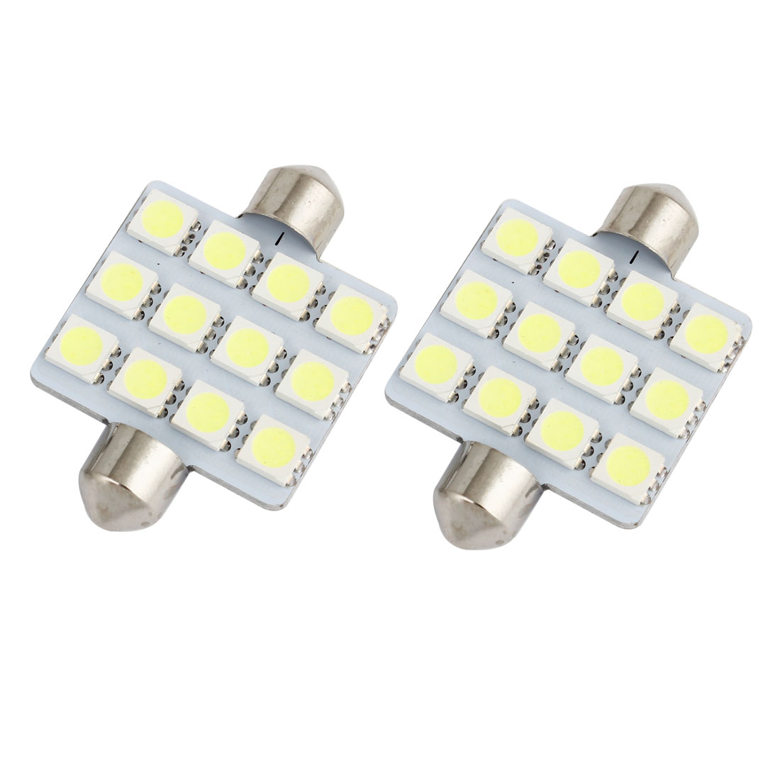 2pcs 41mm 5050 SMD 12-LED Festoon Dome Light White 211-2 212-2 569 Internal