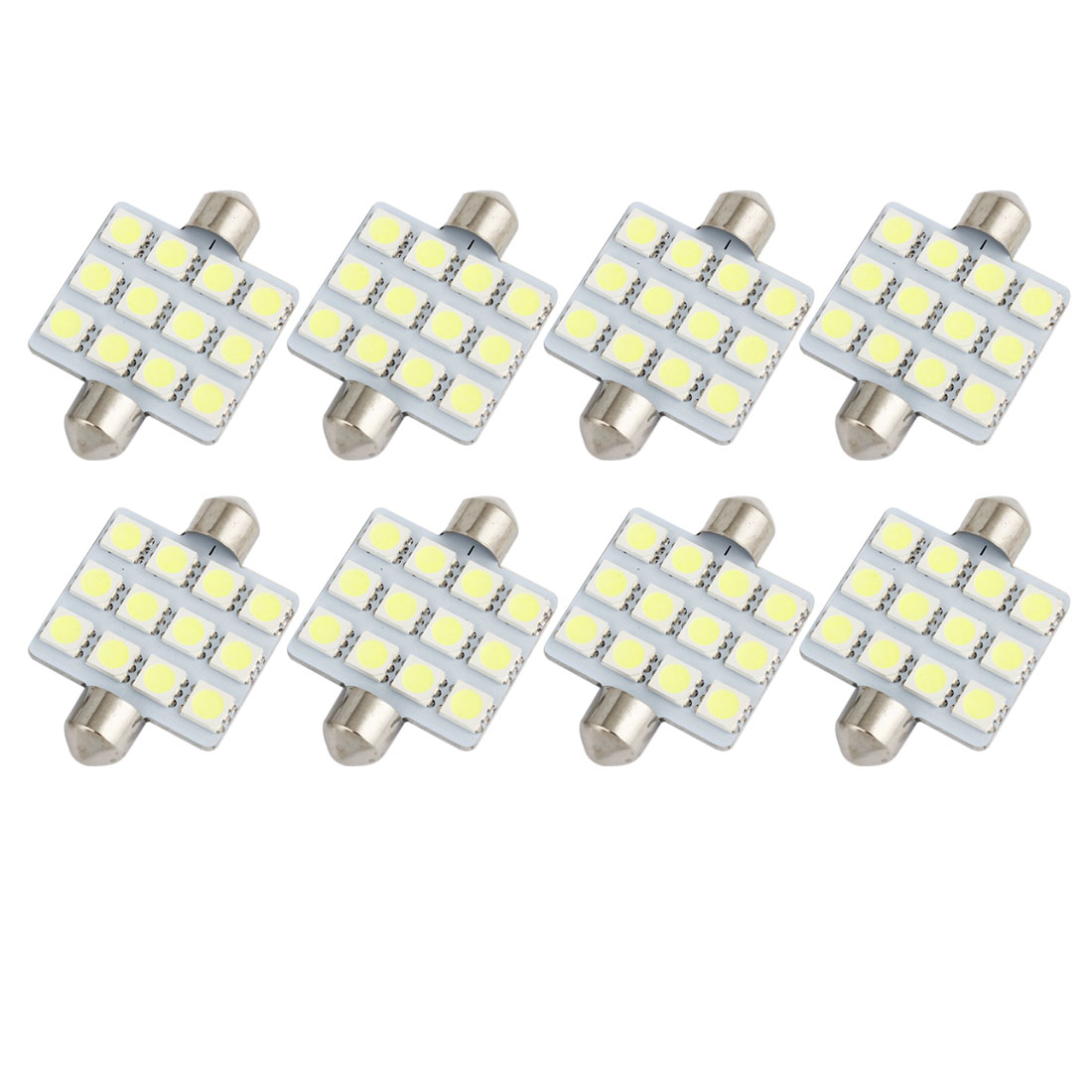 8pcs 41mm 5050 SMD 12-LED Festoon Dome Light White 6413 211-2 212-2 560 Internal