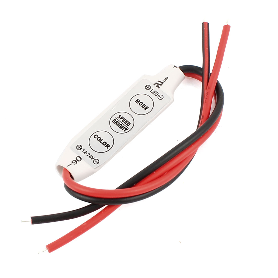 3-Keys Mini Dimmer Controller for Single Color LED Strip DC12-24V