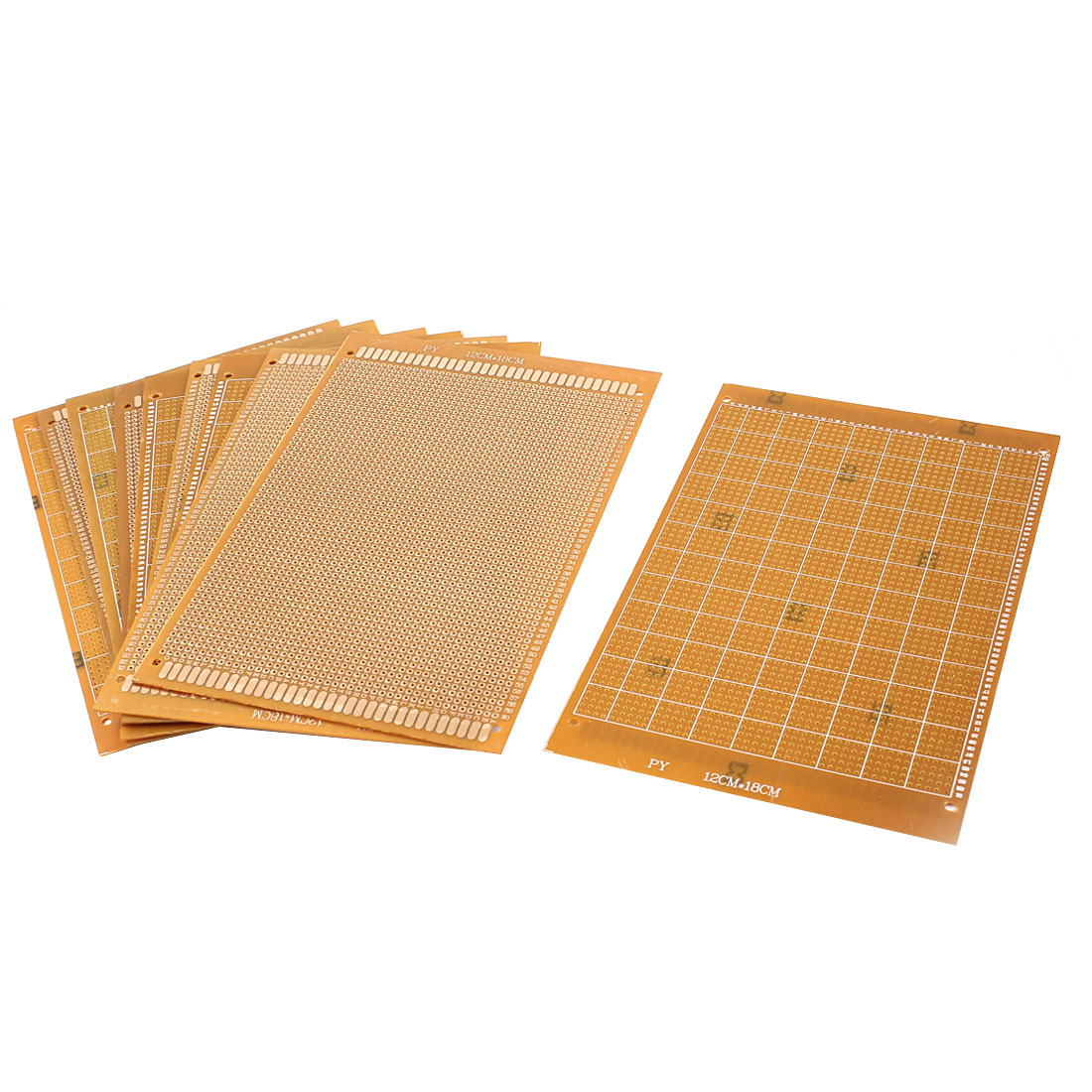 10 Pcs Prototyping Experiment Tester Matrix PCB Circuit Plate Board 12cm x 18cm