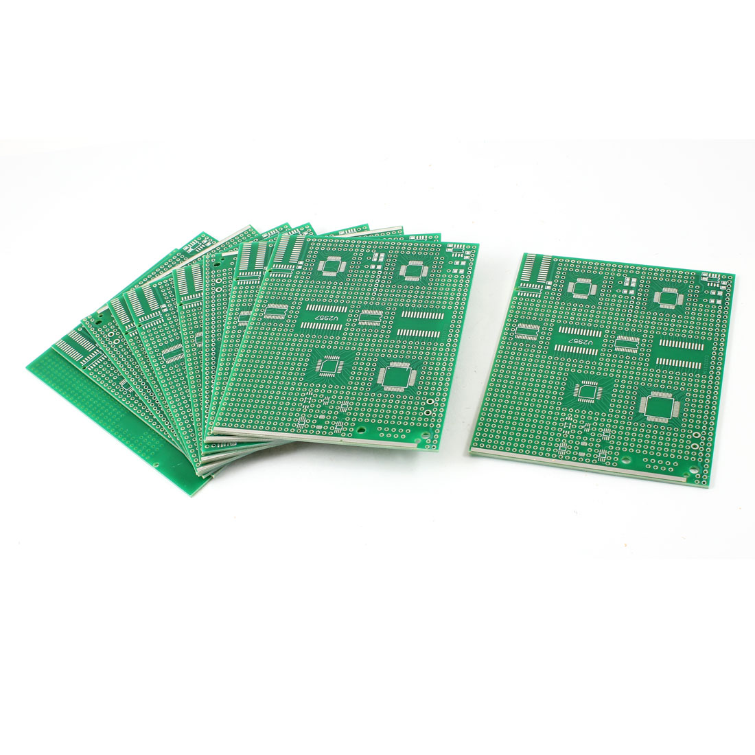 10 Pcs TQFP32/48/64 0.5mm/0.8mm Pitch to DIP Single Side PCB Circuit Adapter Board 9x11cm