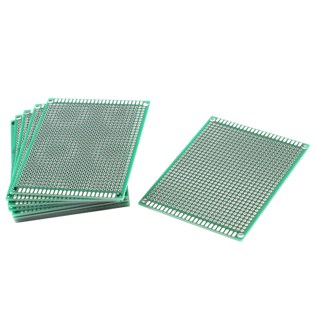 10 Pcs Dual Sided 2.54mm Pitch Tinned Prototyping PCB Universal Board 70mmx90mm