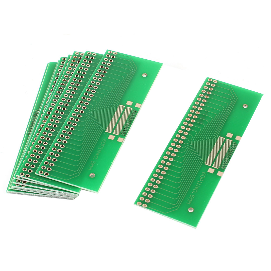 10 Pcs Universal Dual Row 60Pin 0.5mm Pitch TFT LCD Adapter PCB Board 28.5mmx76mm
