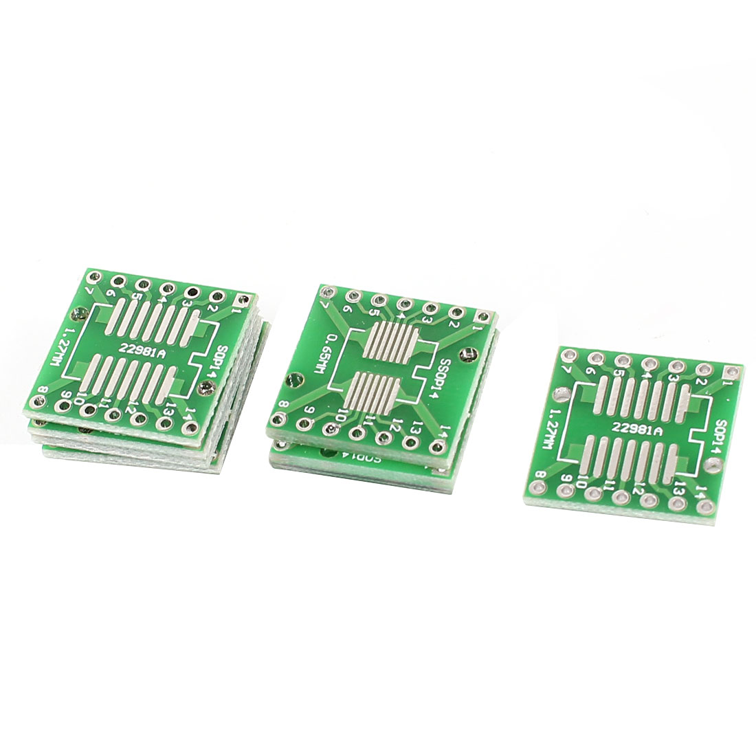 10 Pcs SMT SSOP14 0.65mm to SOP14 1.27mm Double Sides DIP PCB Adapter Converter Plate