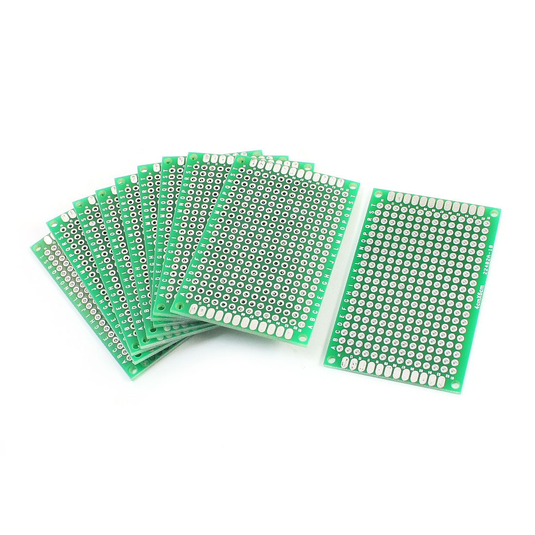 10Pcs DIY Universal Double Sided Protoboard Glass Fiber Prototyping PCB Printed Circuit Board 4cm x 6cm