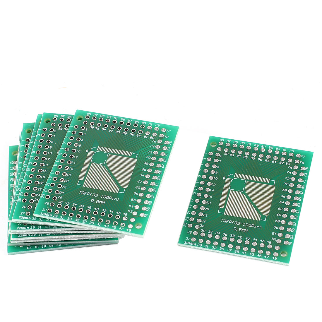 10 Pcs Double Side 0.5mm to 0.8mm Pitch PCB Circuit Universal Adapter Board 38mmx46mm