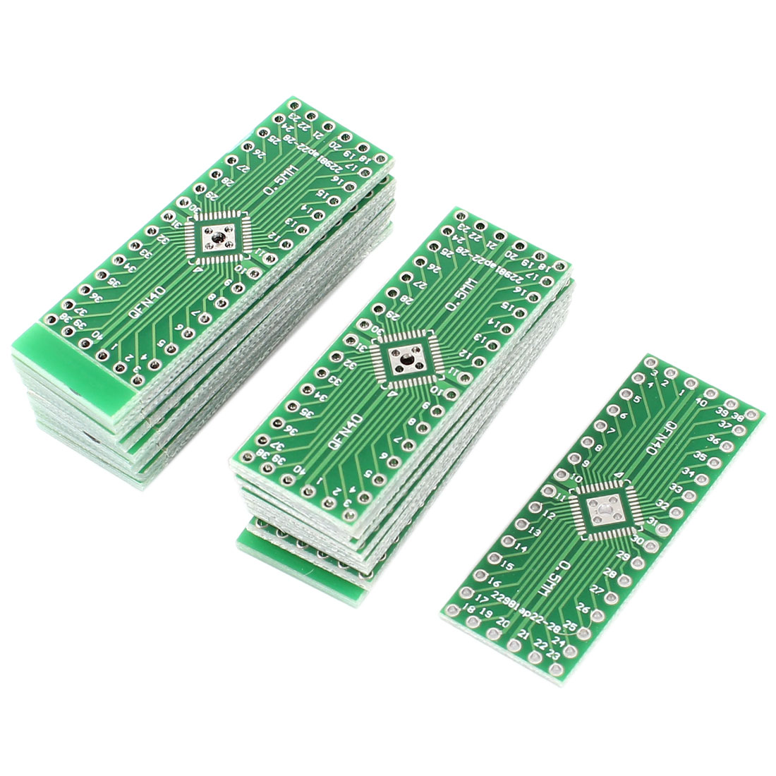 10 Pcs QFN32 to QFN40 Double Sides 0.5mm Pitch DIP Mounting PCB Adapter Converter Plate