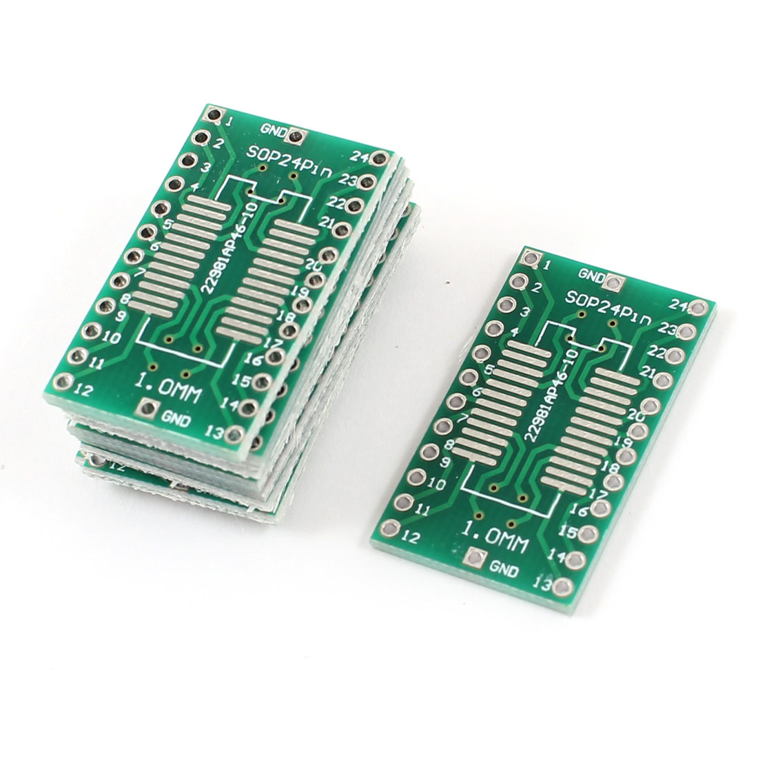 10 Pcs Double Side SOP24Pin to SSOP24Pin 1.0mm Pitch PCB Circuit Universal Board