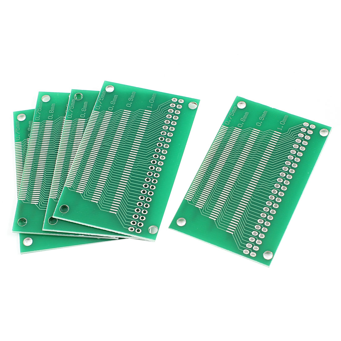 5 Pcs Universal Double Sided 0.4mm-1.0 Pitch TFT LCD Adapter PCB Board 60mmx38mm